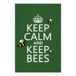 Matte Poster with Keep Calm and Keep Bees design