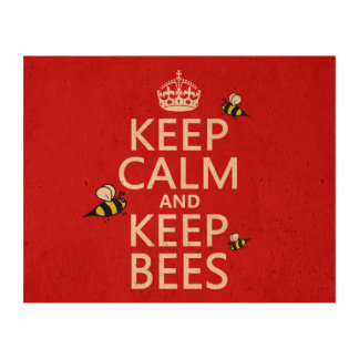 Keep Calm and Keep Bees - all colours Cork Fabric