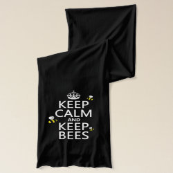Jersey Scarf with Keep Calm and Keep Bees design