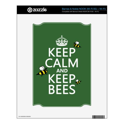 Keep Calm and Keep Bees - all colours Skin For NOOK
