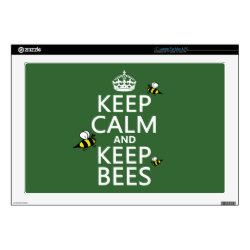 17' Laptop Skin for Mac & PC with Keep Calm and Keep Bees design