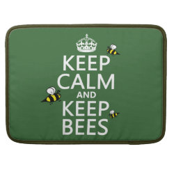 Macbook Pro 15' Flap Sleeve with Keep Calm and Keep Bees design