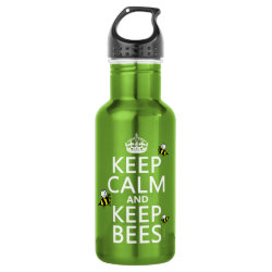 Water Bottle (24 oz) with Keep Calm and Keep Bees design