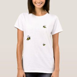 Women's Basic T-Shirt with Keep Calm and Keep Bees design