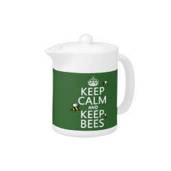Small Tea Pot with Keep Calm and Keep Bees design