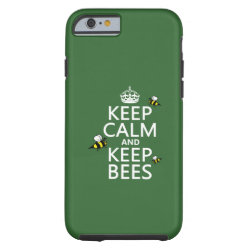 Case-Mate Barely There iPhone 6 Case with Keep Calm and Keep Bees design
