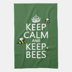 Kitchen Towel 16' x 24' with Keep Calm and Keep Bees design