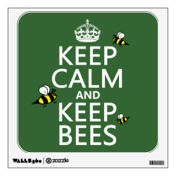 Walls 360 Custom Wall Decal with Keep Calm and Keep Bees design