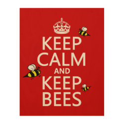 11'x14' Wood Canvas with Keep Calm and Keep Bees design