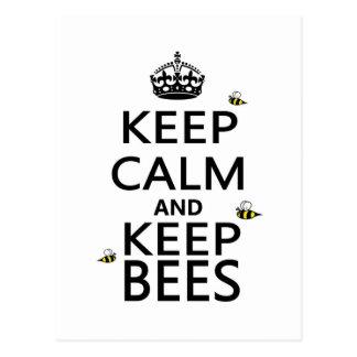 Keep Calm and Keep Bees Postcard