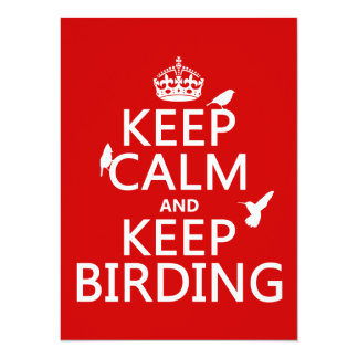 Keep Calm and Keep Birding (any color) Card