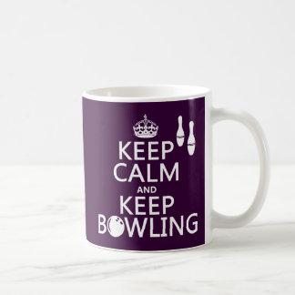 Keep Calm and Keep Bowling - all colours Coffee Mug