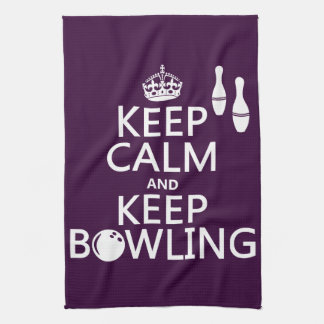 Keep Calm and Keep Bowling - all colours Hand Towel