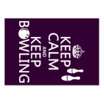 Keep Calm and Keep Bowling - all colours Large Business Card