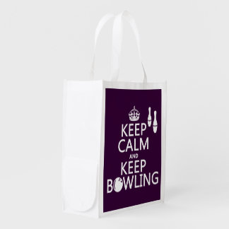Keep Calm and Keep Bowling - all colours Market Tote
