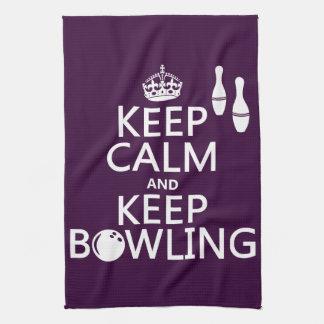 Keep Calm and Keep Bowling - all colours Towel