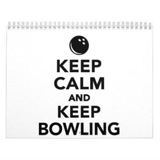 Keep calm and keep bowling calendar