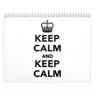 Keep calm and keep calm calendar