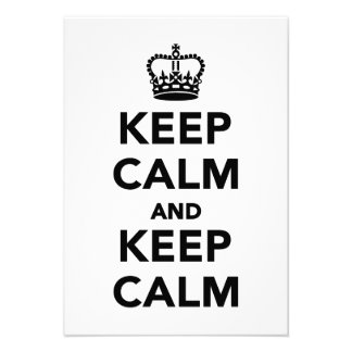 Keep calm and keep calm custom announcements