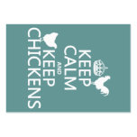 Keep Calm and Keep Chickens (any background color) Business Cards