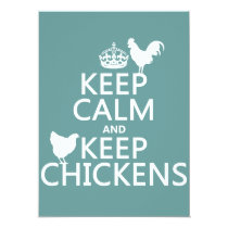 Keep Calm and Keep Chickens (any background color) Card