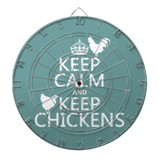 Keep Calm and Keep Chickens (any background color) Dartboard With Darts