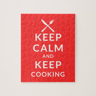 Keep Calm and Keep Cooking Jigsaw Puzzle