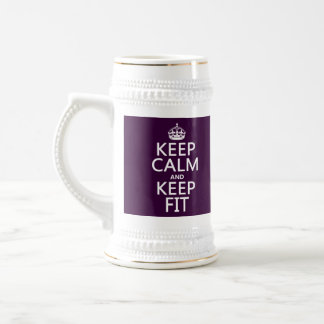 Keep Calm and Keep Fit (customize colors) Beer Stein