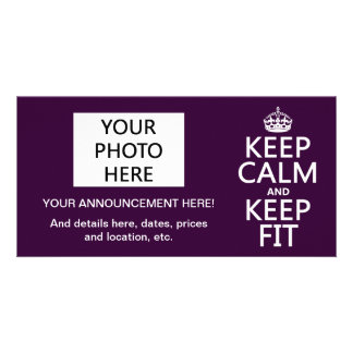 Keep Calm and Keep Fit (customize colors) Card