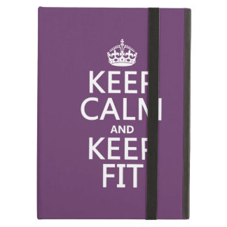 Keep Calm and Keep Fit (customize colors) Case For iPad Air
