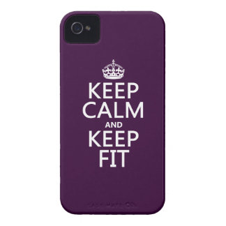 Keep Calm and Keep Fit (customize colors) iPhone 4 Case