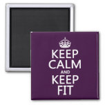 Keep Calm and Keep Fit (customize colors) Magnet
