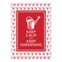Keep Calm and Keep Gardening Birthday Party Card
