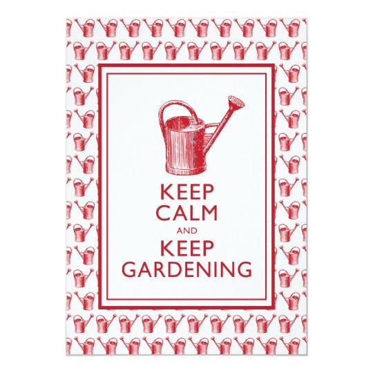 Keep Calm and Keep Gardening Birthday Party Card