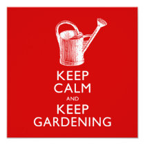 Keep Calm and Keep Gardening Gardener's Funny Card