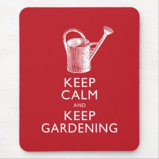 Keep Calm and Keep Gardening Gardener's Funny Mousepad