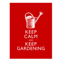 Keep Calm and Keep Gardening Gardener's Funny Postcard