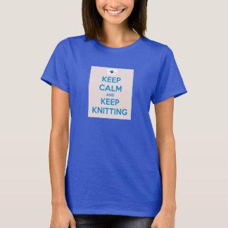 Keep Calm and Keep Knitting Women T-Shirt