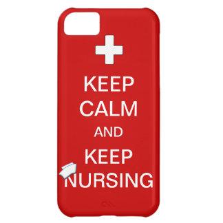 Keep Calm and Keep Nursing /Nurses Cap iPhone 5C Case