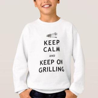 Keep Calm and Keep on Grilling Sweatshirt