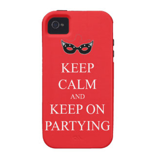 Keep Calm and Keep on Partying iPhone 4 4S Case