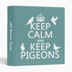 Avery Signature 1' Binder with Keep Calm and Keep Pigeons design