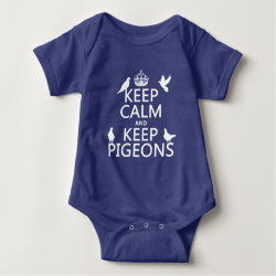 Baby Jersey Bodysuit with Keep Calm and Keep Pigeons design