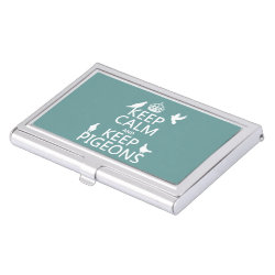 Business Card Holder with Keep Calm and Keep Pigeons design