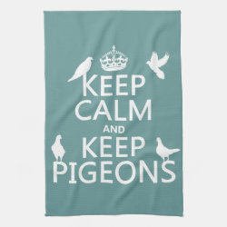 Kitchen Towel 16' x 24' with Keep Calm and Keep Pigeons design
