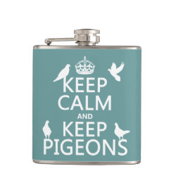 Vinyl Wrapped Flask, 6 oz. with Keep Calm and Keep Pigeons design