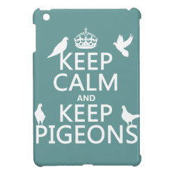 Case Savvy iPad Mini Glossy Finish Case with Keep Calm and Keep Pigeons design