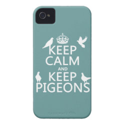 Case-Mate iPhone 4 Barely There Universal Case with Keep Calm and Keep Pigeons design