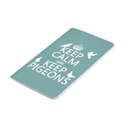 Pocket Journal with Keep Calm and Keep Pigeons design