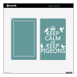 Amazon Kindle DX Skin with Keep Calm and Keep Pigeons design